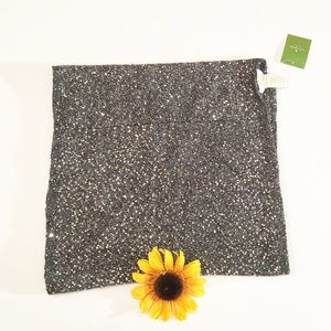 NWT Kate Spade all over sequin infinity scarf gray